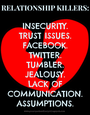... Jealousy. Lack Of Communication. Assumptions. ~ Communication Quotes