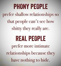 ... they are afraid of intimacy sad but true more phony people quotes