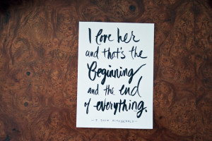 Love Quote, F Scott Fitzgerald Quote, Couples, Wedding, Valentine's ...