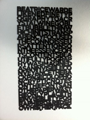 3D laser cut typographic quote by David Gill, via Behance