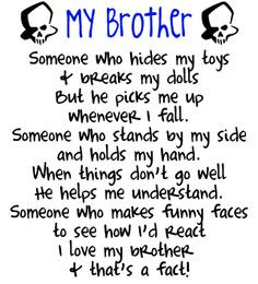 sibling quotes and sayings | Brother Skulls Graphics, Wallpaper ...
