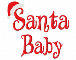 Christmas Embroidery Design Santa Baby 4x4 5x7 6x10 hoop Instant ...