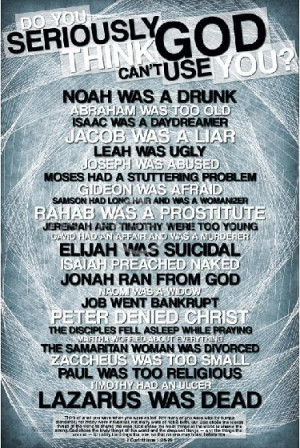 God doesn't call the equipped…He equips the called