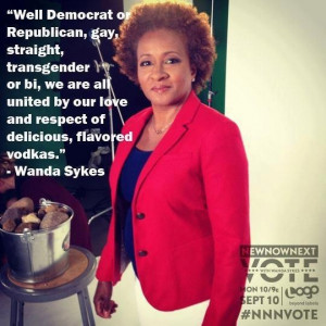 Wanda Sykes;D ;D Ahh! We Americans have a good sense of humor.
