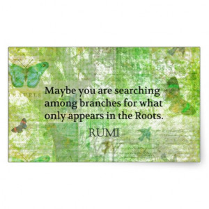 Rumi quote on healing and love rectangle sticker