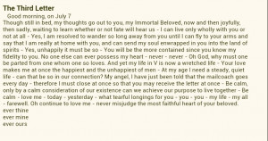 sexandthecity Beethoven love letter love it!