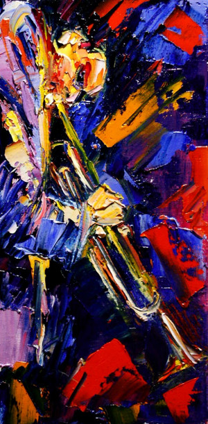 Abstract Jazz Art Painting