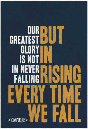 Our Greatest Glory Confucius Quote Poster