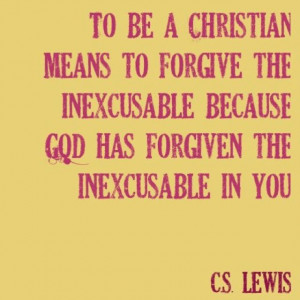 To be a Christian....