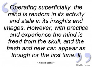 operating superficially