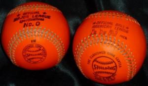 Official Spalding American League MacPhail Orange Baseball