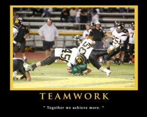 Teamwork Sports Football T = teamwork