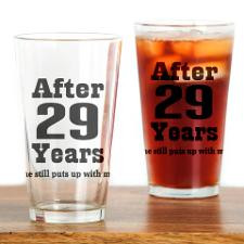 29th Anniversary Funny Quote Drinking Glass for