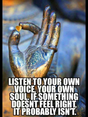 quote Listen to your own voice...