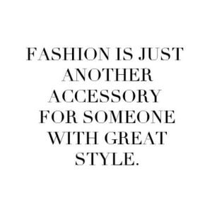 Fashion accessories with new style quotes