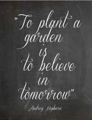 Believe is hope in tomorrow