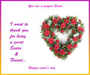 Happy Sister Day Invitation