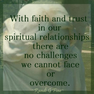 Trusting Spiritual Relationships Picture Quote