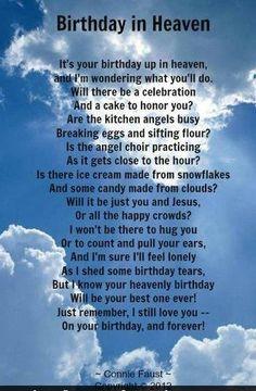 ... Happy Birthday, 1St Birthday In Heaven, Heaven Birthday Quotes
