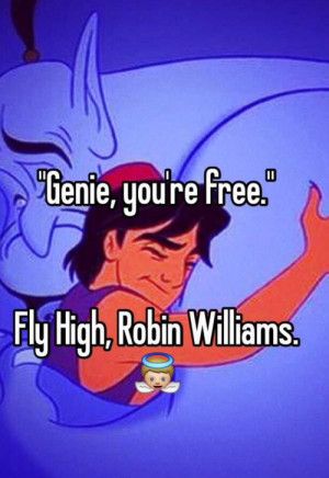 ... for this image include: rip, robin williams, aladdin, actor and genie