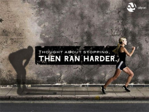 give up run harder running sport fitness workout motivation quote ...