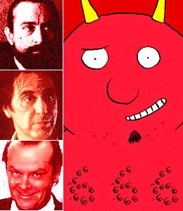 Robert De Niro in Angel Heart, Al Pacino in the Devil's Advocate, Jack ...