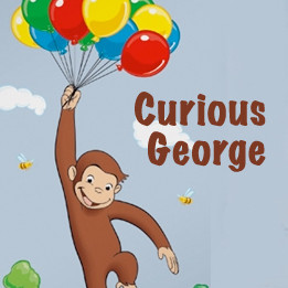 Curious george wall decals quotes quotesgram for Curious george wall mural