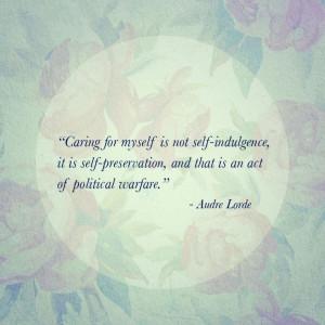 Audre Lorde quote. #feminism