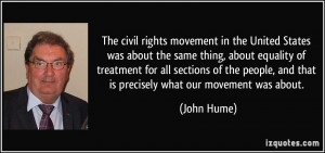 The civil rights movement in the United States was about the same ...