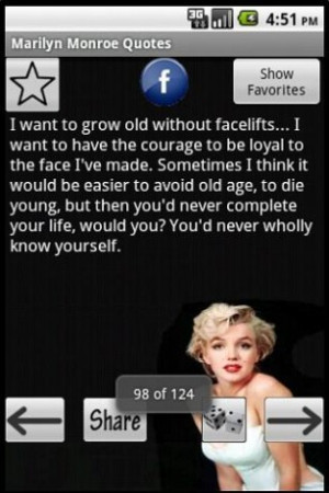 View bigger - Marilyn Monroe Quotes for Android screenshot