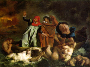 The Barque of Dante , 1822 (150 Kb); Oil on canvas, 189 x 242 cm (74 1 ...