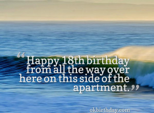 Happy 18th birthday from all the way over here on this side of the ...
