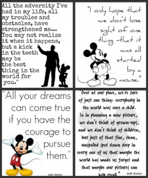 Pictures of Short Inspirational Quotes By Walt Disney
