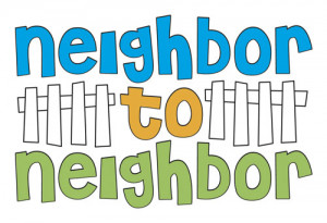 Neighbors Helping Neighbors Clipart