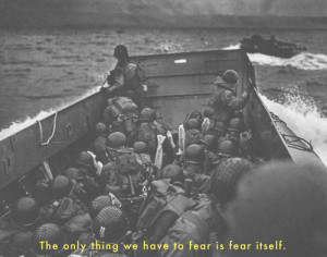 quote by a guy not on this landing craft.