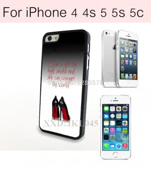 New Arrival Quote By Marilyn Monroe and High Heel Shoes Case Cover for ...