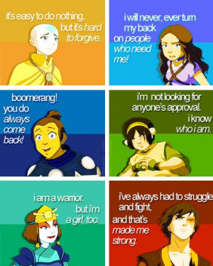 Haha Sokka's quote is very inspirational