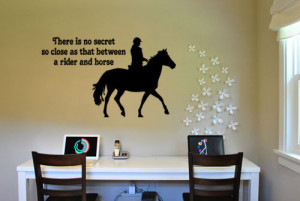 107 - HQHorse and rider sticker-45 X 27 inch vinyl wall decor