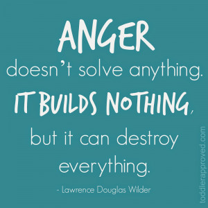 Some unproductive ways that I deal with anger include...