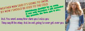 Miranda Lambert ~Over you Lyrics cover