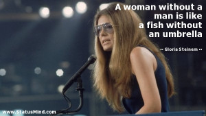 Gloria Steinem Quote Woman