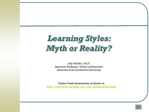 Learning Styles and Generational Differences - Download as PowerPoint ...