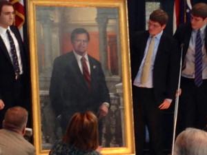 Paul Gillmor portrait unveiled jpg