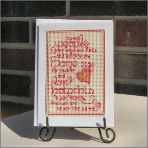 Footprints - Inspirational Heart Love Quotes Handmade Cross-stitch ...