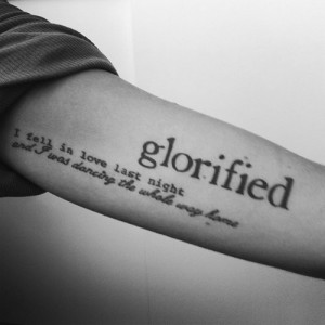 Inside Arm Quotes Tattoo for Men