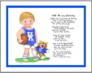 Kentucky Wildcats custom college basketball art print Wait for Me