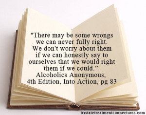 quote from # alcoholics # anonymous 4th edition into action # wise ...