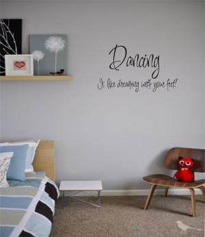 Dance Home Decor Vinyl Stickers Letters Love Dream Quotes Decals