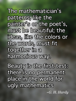 Beauty is the first test: there is no permanent place in the world for ...