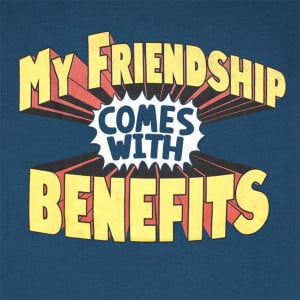 Friends With Benefits Funny Navy Graphic Tee Shirt